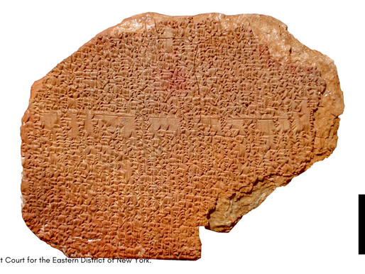 'Gilgamesh' Clay Tablet Bought By Hobby Lobby Going Back To Iraq