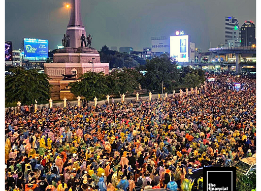 THAILAND'S EQUITIES TUMBLE DUE TO PROTESTS