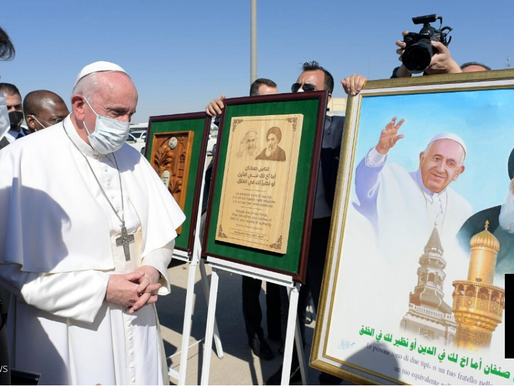 POPE PRAYS FOR VICTIMS IN FORMER ISLAMIC STATE BASTION IN IRAQ