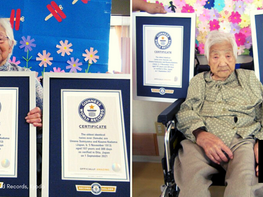 107-Yr-Old Japanese Sisters Recognized As World's Oldest Living Identical Twins By Guinness