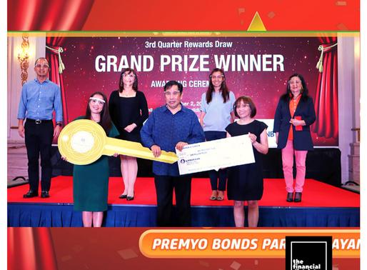 NAPOCOR PROVIDENT FUND WINS PREMYO BONDS' TOP PRIZES