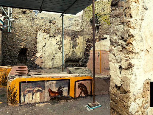 ARCHAEOLOGISTS DIG UP STREET FOOD SHOP IN POMPEII