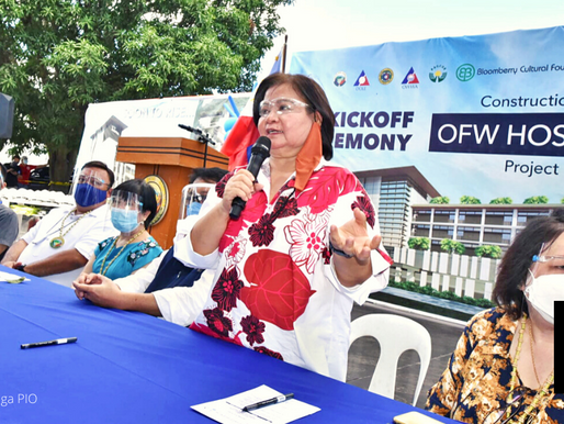 OFW HOSPITAL TO BE FINISHED NEXT YEAR