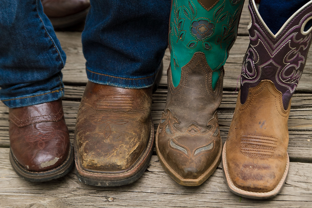 Best Foot Forward: Family's right foot together