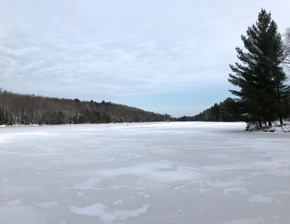 Frozen Wisconsin River