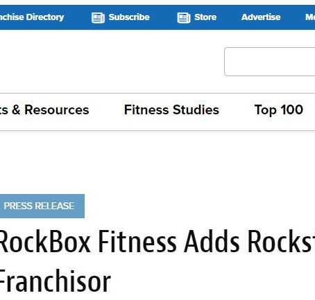 RockBox Fitness Adds Rockstar Franchisor