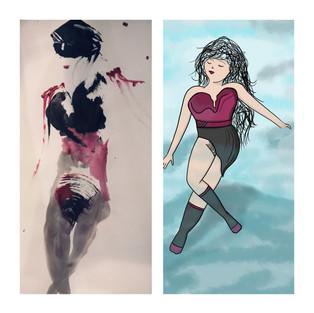 ツ # Modèle Vivant VS illustration