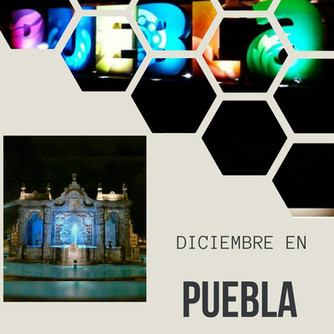 Decoración decembrina en Puebla
