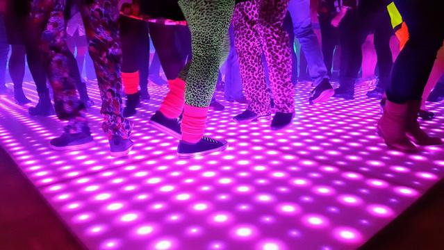 De befaamde verlichte dansvloer