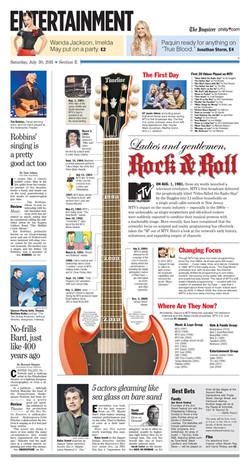 Newspaper Design: MTV turns 30