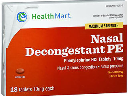 HM Phenylephrine 10 mg 18 ct.