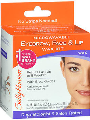Sally Hansen Eyebrow, Face, and Lip Wax Kit