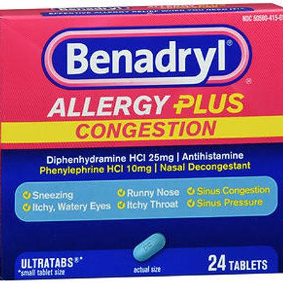 Benadryl Allergy Plus Congestion 24 ct.