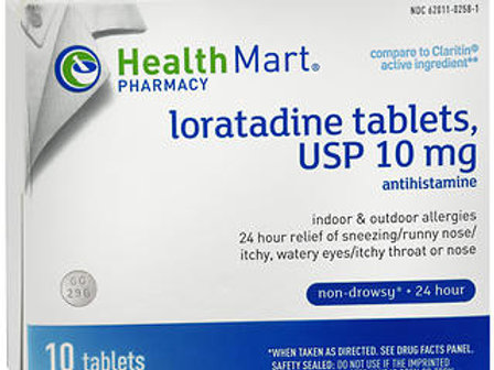 HM Loratadine Tablets 10 mg 10 ct.