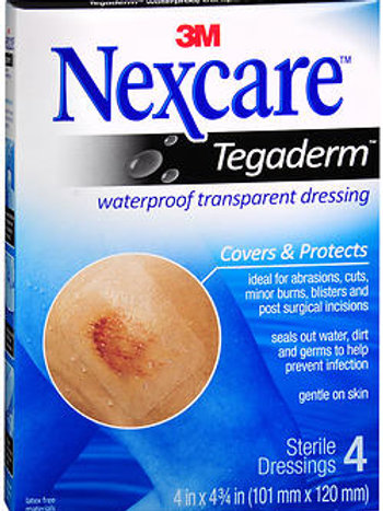 Nexcare Tegaderm 4 ct. 4IN X 4.75IN
