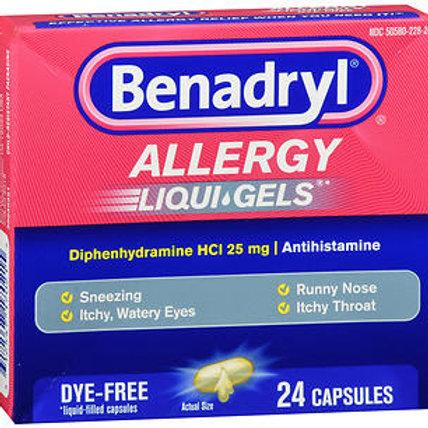 Benadryl Allergy (dye-free) 25 mg 24 ct.