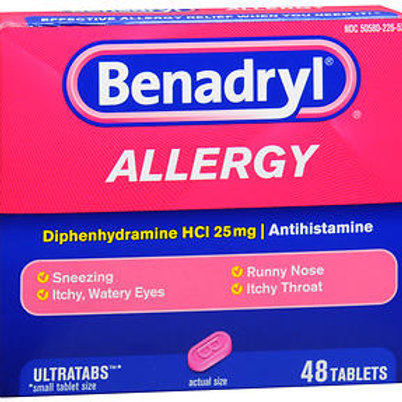 Benadryl Allergy 25 mg 48 ct.