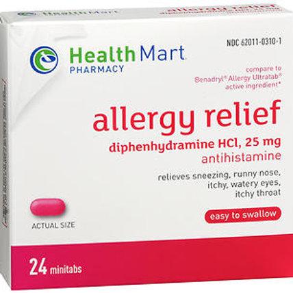 HM Diphenhydramine 25 mg 24 ct.