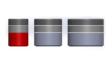 Stacks; Stacks containers; size comparison.