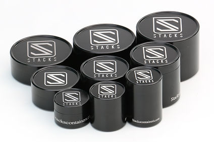 Stacks; Stacks containers. Black anodize. prototypes