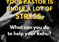 Reflections from Our Conference Minister: Pastoral Stress