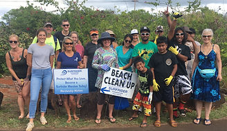 Kauai Youth Beach Cleanup Photo (Cropped