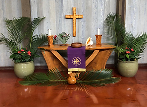 Koloa Union Church Palm Sunday altar.png