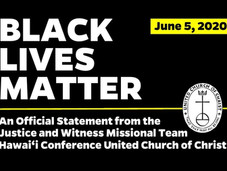 "Justice & Witness Missional Team Issues Statement on ""Black Lives Matter"""