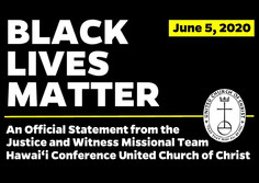 """Justice & Witness Missional Team Issues Statement on """"Black Lives Matter"""""""