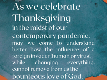 Reflections on Thanksgiving by our Conference Minister