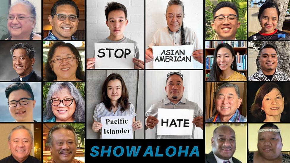 HCUCC The Friend writers contributors faces headshots Stop AAPI Hate Show Aloha