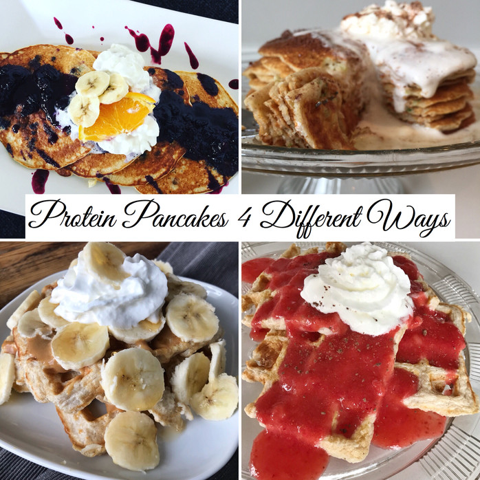 Easy Protein Pancakes Made 4 Different Ways