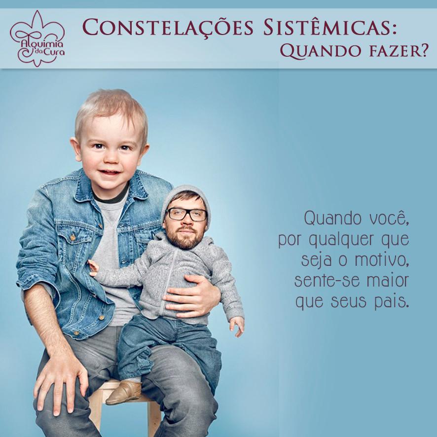 Constelações sistêmicas: quando fazer? Quando você, por qualquer que seja o motivo, sente-se maior que seus pais.
