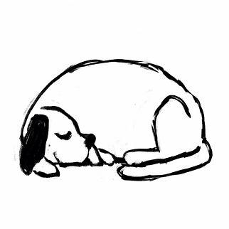 Slapende hond schets