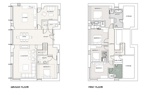 Floor plan of Hill View House
