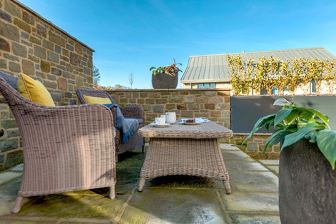 Stone Cottage outside seating area