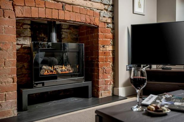 Stone Cottage fireplace