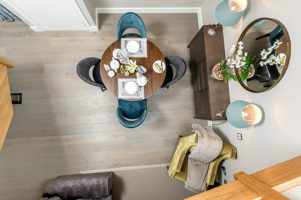 Stone Cottage dining table from above