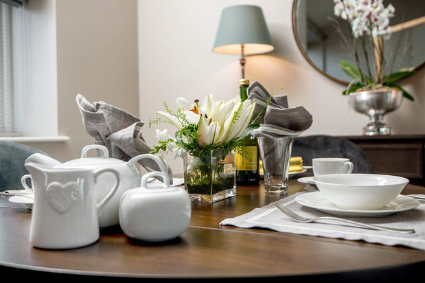 Dining table in Stone Cottage