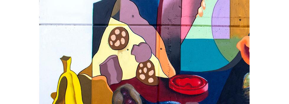 Mural reciclaje orgánico para Ambiens S.L