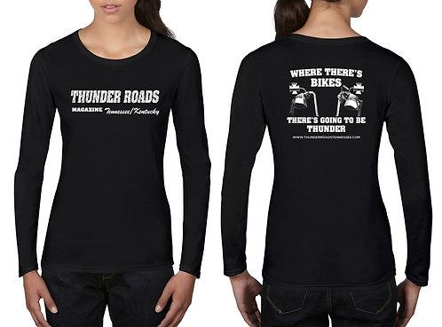Ladies Black Long Sleeve T-Shirt