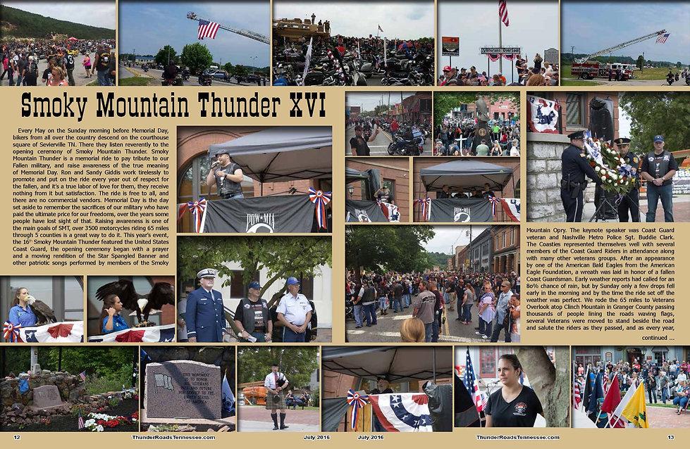 Smoky Mountain Thunder Memorial Ride
