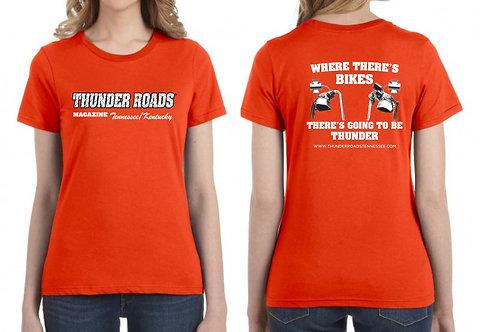 Ladies Lightweight Orange T-Shirt