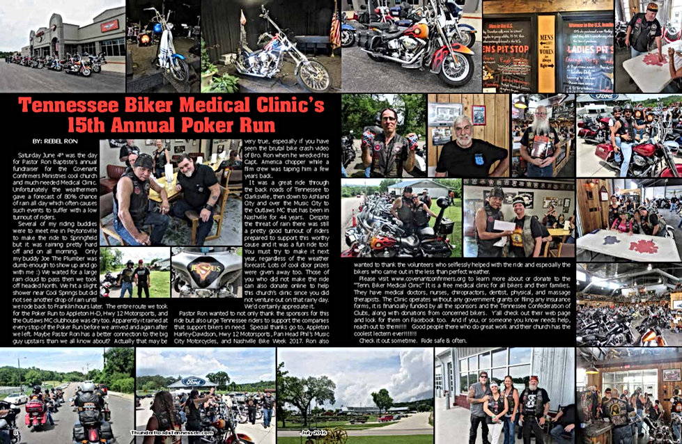 Tennessee Biker Medical Clinic Poker Run