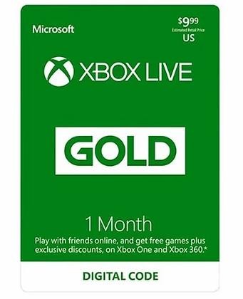 Xbox Live Gold Membership 1 month US / EU / JP / KR