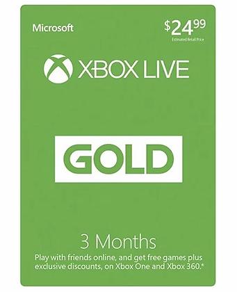 Xbox Live Gold Membership 3 months US / EU / JP / KR