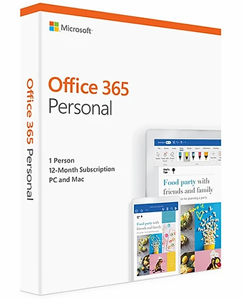 Microsoft Office 365 Personal - 1 User PC - 1 Year