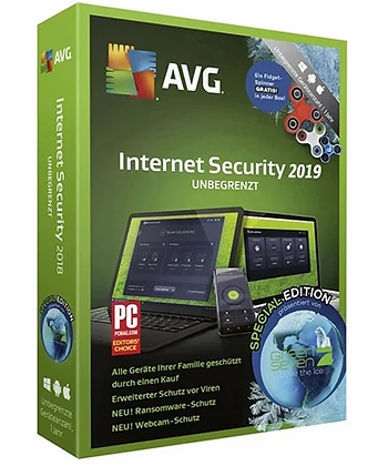 AVG Internet Security 2019 - Unlimited Devices (10 devices) 2 years
