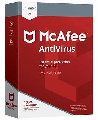 McAfee Antivirus 2020 - Unlimited Devices (10 devices) 5 Year