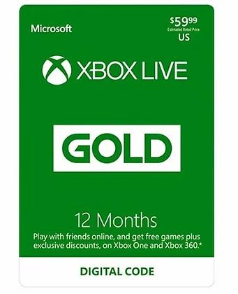 Xbox Live Gold Membership 12 months US / EU / JP / KR